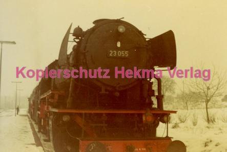 Godramstein/Pfalz Eisenbahn - Bahnhof - Lok 23 055