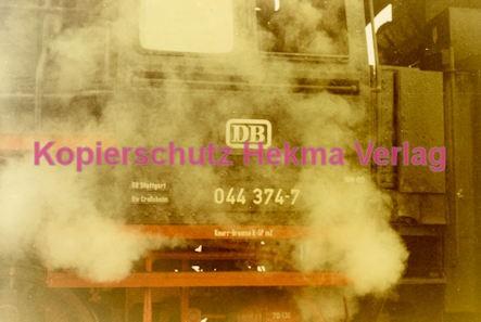 Godramstein/Pfalz Eisenbahn - Bahnhof - Lok 044 374-7