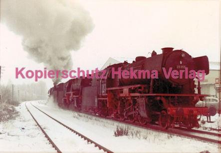 Godramstein/Pfalz Eisenbahn - Bahnhof - Lok 23 055, Lok 044 374-7 und Lok 23 068 - Bild 6
