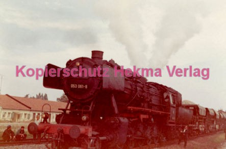 Godramstein/Pfalz Eisenbahn - Bahnhof - Lok 053 061-8 - Bild 4