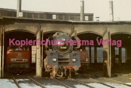 Hamburg Eisenbahn - Bahnbetriebswerk Altona - Lok 01 507 - Bild 1