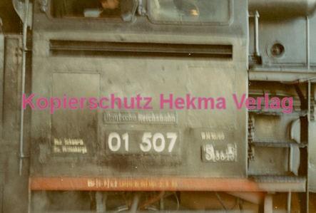Hamburg Eisenbahn - Bahnbetriebswerk Altona - Lok 01 507 - Bild 3
