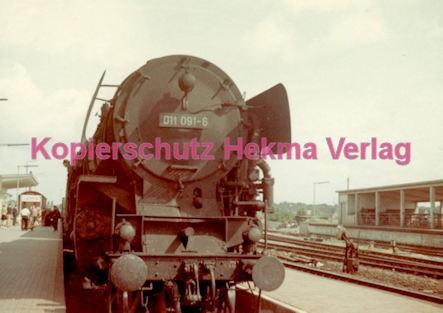 Münster Eisenbahn - Bahnbetriebswerk - Lok 011 091-6 - Bild 1