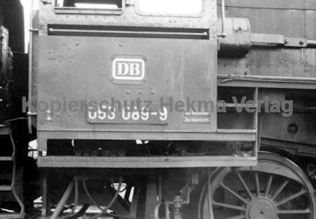 Mannheim Eisenbahn - Bahnbetriebswerk Mannheim - Lok 053 089-9