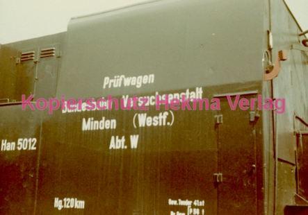 Minden Eisenbahn - Versuchsanstalt - Prüfwagen - Bild 1