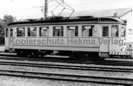 Mannheim Straßenbahn - OEG - Depot Edingen - Wagen Nr. 1