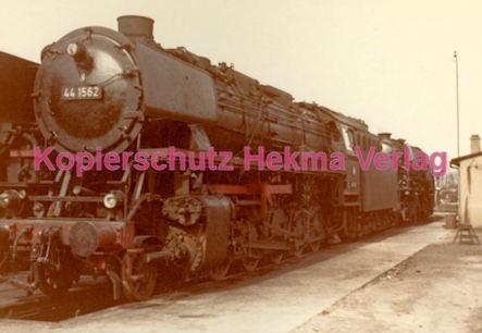 Osterburgen Eisenbahn - Bahnbetriebswerk Osterburgen - Lok 44 1562