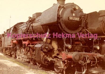 Osterburgen Eisenbahn - Bahnbetriebswerk Osterburgen - Lok 50 2387