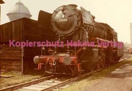 Osterburgen Eisenbahn - Bahnbetriebswerk Osterburgen - Lok 23085