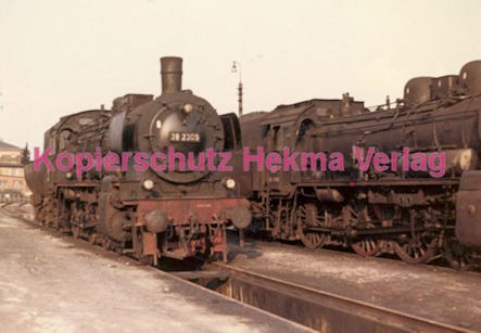 Osterburgen Eisenbahn - Bahnbetriebswerk Osterburgen - Lok 38 2309