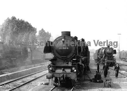Rheine Eisenbahn - Bahnbetriebswerk Rheine - Lok 012 058-4