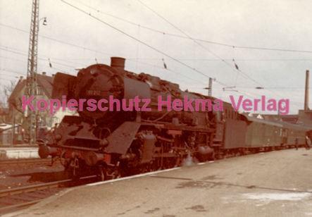 Schorndorf Eisenbahn - Bahnhof Schorndorf - Lok 01 282 - Letzte planmäßige Fahrt