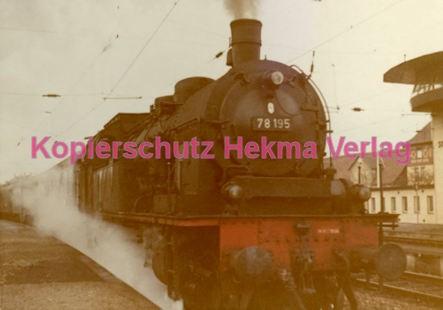 Schorndorf Eisenbahn - Bahnhof Schorndorf - Lok 78 195 - Bild 2