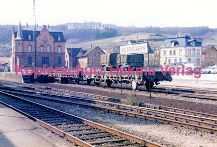 Bad Bergzabern (Pfalz) Eisenbahn - Rungenwagen