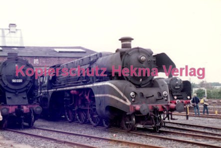 Frankfurt Eisenbahn - Lokschau - Hafengelände Hanauer Landstr. - Lok 95 020 und 18 314