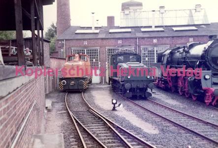 Frankfurt Eisenbahn - Lokschau - Hafengelände Hanauer Landstr. - Diesellok der Hafenbahn und ein schweizer Krokodil