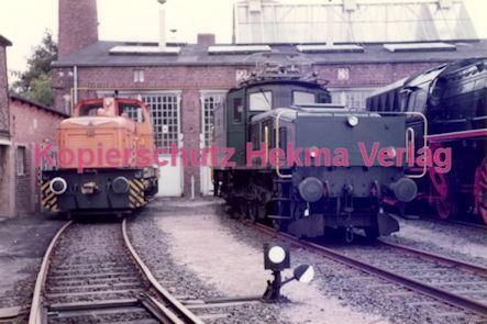 Frankfurt Eisenbahn - Lokschau - Hafengelände Hanauer Landstr. - Diesellok der Hafenbahn und schweizer Krokodil
