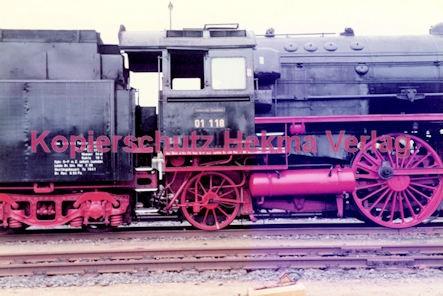 Frankfurt Eisenbahn - Lokschau - Hafengelände Hanauer Landstr. - Lok 01 118