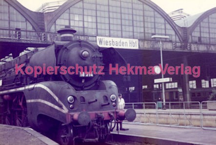 Wiesbaden Eisenbahn - Hauptbahnhof - Lok 18 314