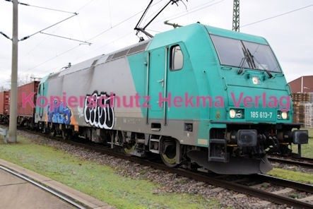 Germersheim Eisenbahn - Hafengelände - E-Lok 185 613-7