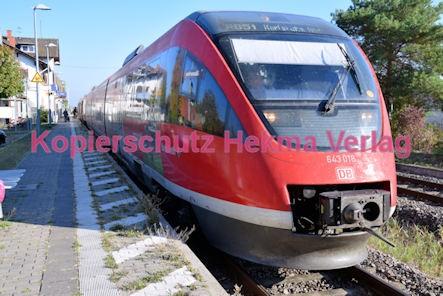 Maikammer/Kirrweiler Eisenbahn - Bahnhof - RB 51 - Zug Barbelroth - Zug 643 018