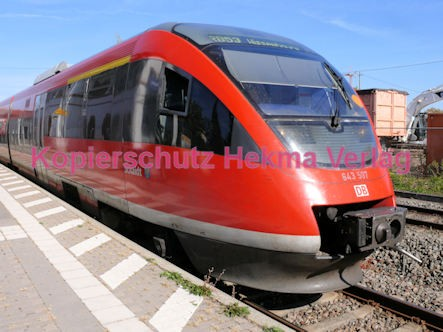 Maikammer/Kirrweiler Eisenbahn - Bahnhof - RB 53 - Zug Schaidt - Zug 643 507