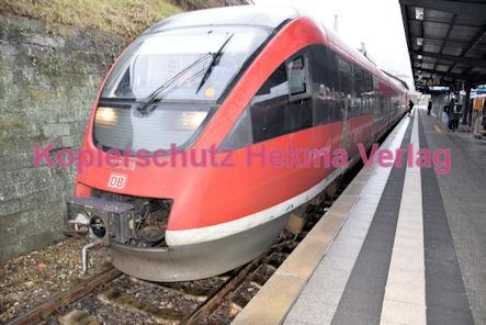 Neustadt Wstr. Eisenbahn - Hauptbahnhof Neustadt - Zug Barbelroth 643 018