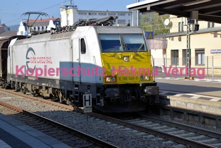 Neustadt Wstr. Eisenbahn - Hauptbahnhof Neustadt - Euro Cargo Rail Lok E 186 345-5