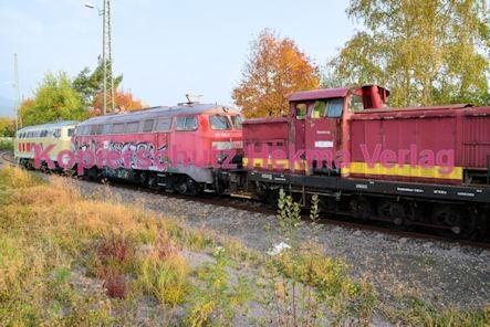 Neustadt Wstr. Eisenbahn - Hauptbahnhof Neustadt - Nebengleis - Lokomotiven