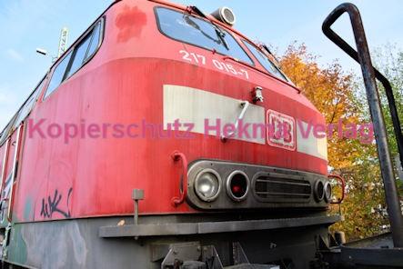 Neustadt Wstr. Eisenbahn - Hauptbahnhof Neustadt - Nebengleis - Lok 217 015-7