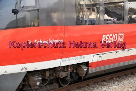 Neustadt Wstr. Eisenbahn - Hauptbahnhof Neustadt - RB 51 - Schweighofen Zug 643 (502) 513