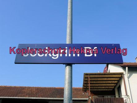 Jockgrim Eisenbahn - Bahnhof Jockgrim - Bahnhofsschild