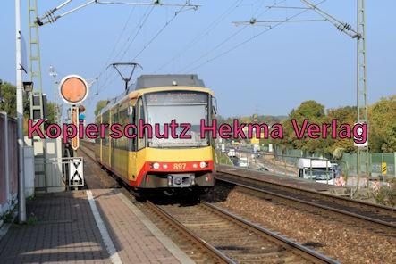 Karlsruhe Straßenbahn - Maximiliansau Eisenbahnstraße - Haltestelle - S5 Wagen 897