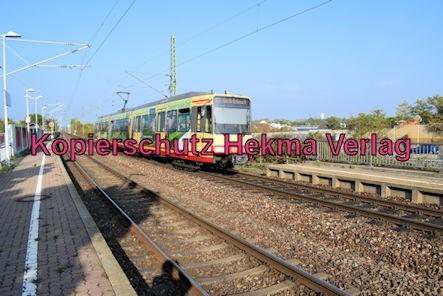 Karlsruhe Straßenbahn - Maximiliansau Eisenbahnstraße - Haltestelle - S5 Wagen 821