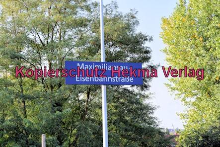 Karlsruhe Straßenbahn - Maximiliansau Eisenbahnstraße - Haltestellenschild