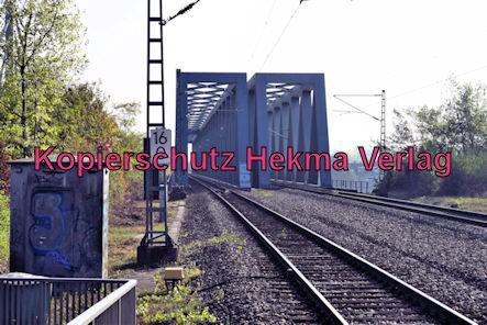 Karlsruhe Straßenbahn - Maximiliansau Eisenbahnstraße - Eisenbahnbrücken über den Rhein
