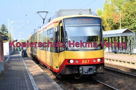 Karlsruhe Straßenbahn - Maximiliansau West - S 5 Wagen 887