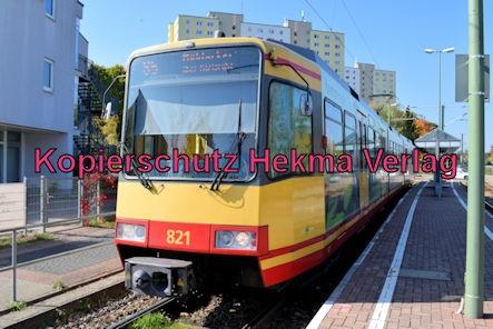 Karlsruhe Straßenbahn - Haltestelle Wörth Bienwaldhalle - S5 Wagen 821