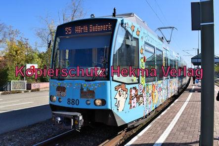 Karlsruhe Straßenbahn - Haltestelle Wörth Bienwaldhalle - S5 Wagen 880