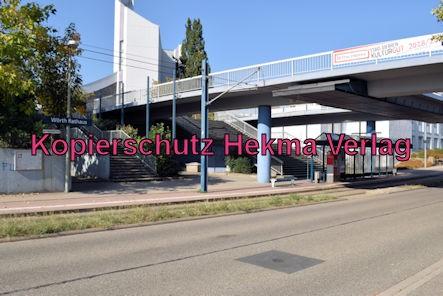 Karlsruhe Straßenbahn - Haltestelle Wörth Rathaus - Haltestelle