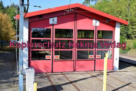 Karlsruhe Straßenbahn - Haltestelle Wörth Badepark (Endstation) - Wagenhalle