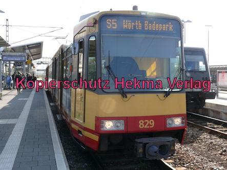 Karlsruhe Straßenbahn - Straßenbahn Bahnhof Wörth - S5 Zug 829