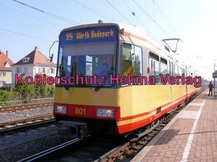 Karlsruhe Straßenbahn - Straßenbahn Wörth Alte Bahnmeisterei - S5 Zug 801