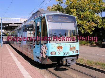 Karlsruhe Straßenbahn - Straßenbahn Wörth - Haltestelle Rathaus - S5 Zug 880