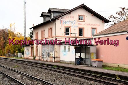 Knöringen-Essingen Eisenbahn - Bahnhof - Bahnhofsgebäude