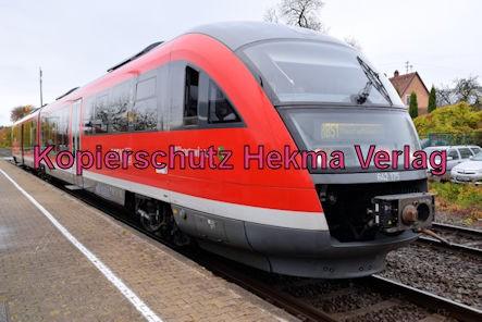 Knöringen-Essingen Eisenbahn - Bahnhof - Zug Wilgartswiesen 642 175