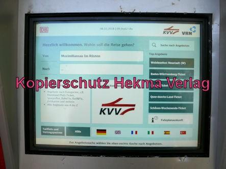 Wörth Eisenbahn - Maximiliansau Haltestelle Im Rüsten - Fahrkartenautomat