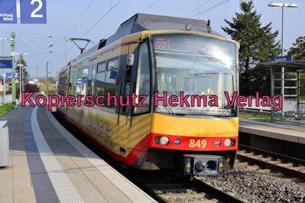 Karlsruhe Straßenbahn - Straßenbahn Wörth - Haltestelle Zügelstraße - S51 Zug 849