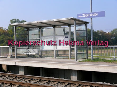 Karlsruhe Straßenbahn - Straßenbahn Wörth - Haltestelle Zügelstraße - Bahnsteig