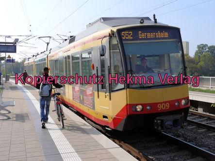 Karlsruhe Straßenbahn - Straßenbahn Wörth - Haltestelle Zügelstraße - S52 Wagen 909